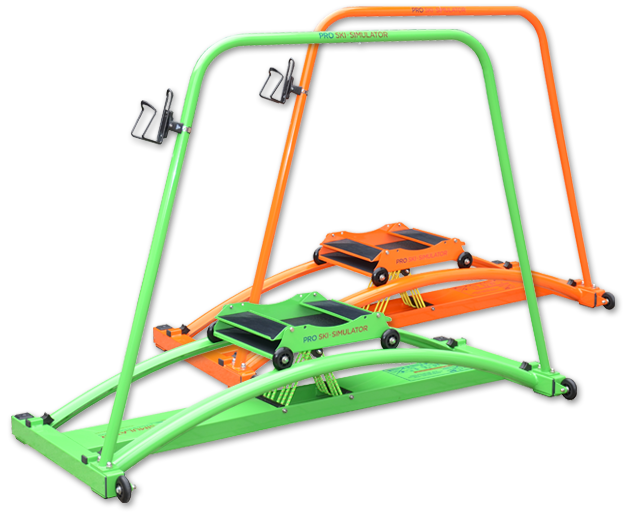 lyžařský-trenažer-zelený-oranžový
