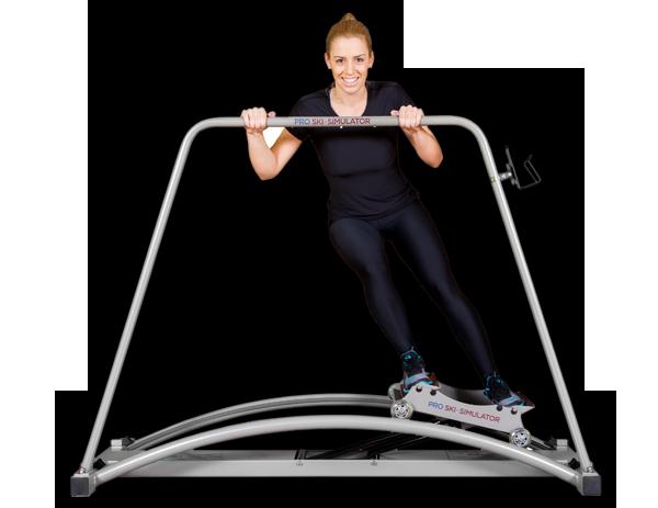 Lyžařský trenažer do domácnosti a fitness center - ski simulator basic