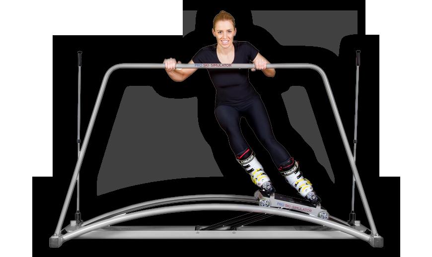 Lyžařský trenažer pro cvičení v lyžařských botech. Prodloužená verze, větší odpor, fixace nohou. Nejnovější verze ski simulatoru power. Pro extrémní a nejúčinější cvičení.