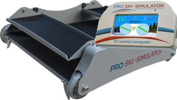 elektronický pojezdový vozík s lcd displejem pro lyžařský trenažer pro ski simulator