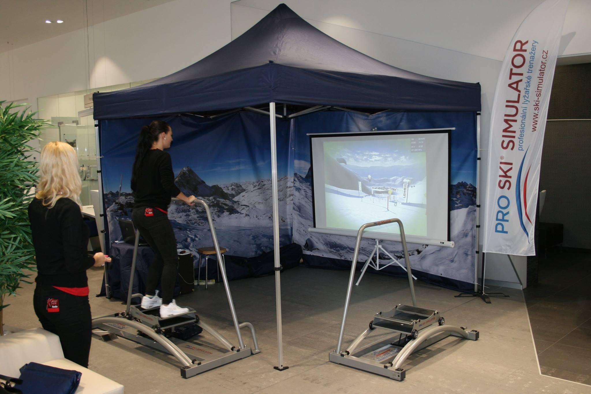 Pronájem lyžařského trenažeru - doprovodný program na firemní akce - závody na trenažeru