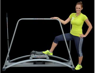 lyžařský trenažer skisimulator basic - pro posilovny a fitnesscentra