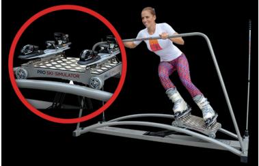 lyžařský trenažer skisimulator power pro cvičení v přeskáčích
